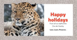 Happy Holidays from the Zoo de Granby team